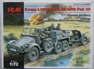 ICM 1/72 72461 Krupp L2H143 Kfz.69 with 37mm PaK 36